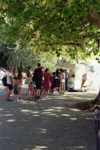 A Lineup for Gelato in Zurich Park