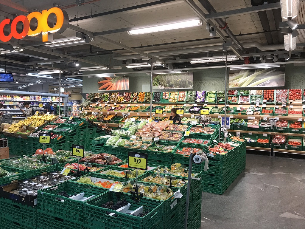 Fresh Produce at Swiss Coop Supermarket