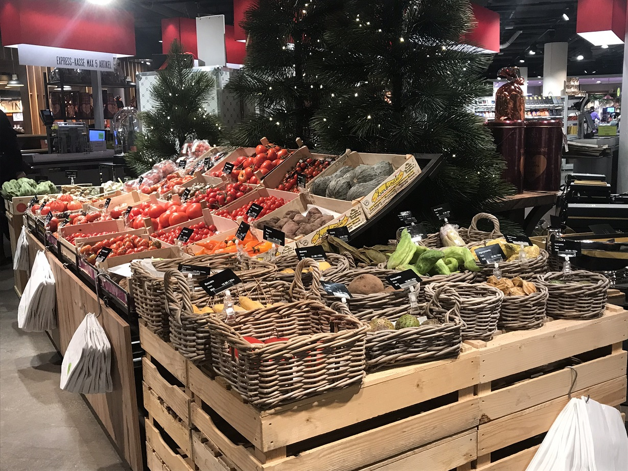 Fresh Vegetable Produce in Jelmoli Food Hall
